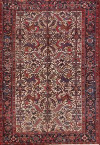 Geometric Heriz Persian Area Rug 7x11