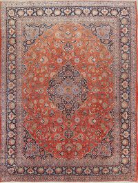 Antique Floral Kashan Dabir Persian Area Rug 11x14