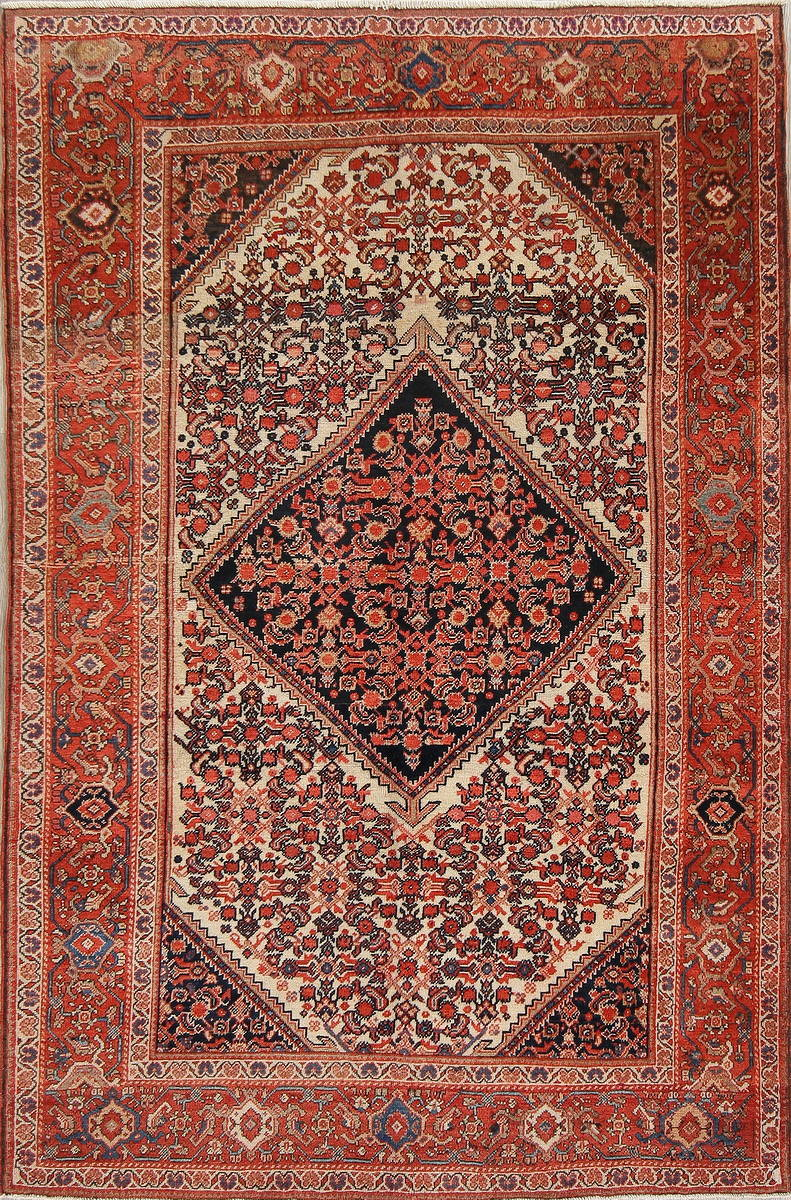 Floral Malayer Mishen Persian Area Rug 4x7 image 1