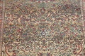 Antique Green Pictorial Kashan Mohtasham Persian Area Rug 4x6 image 4