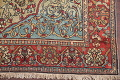 Antique Green Pictorial Kashan Mohtasham Persian Area Rug 4x6 image 6