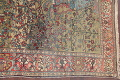 Antique Green Pictorial Kashan Mohtasham Persian Area Rug 4x6 image 17