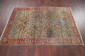 Antique Green Pictorial Kashan Mohtasham Persian Area Rug 4x6 image 18