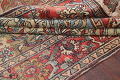 Antique Green Pictorial Kashan Mohtasham Persian Area Rug 4x6 image 20