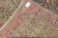 Antique Green Pictorial Kashan Mohtasham Persian Area Rug 4x6 image 23