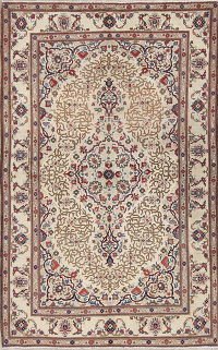 Geometric Kashan Persian Area Rug 4x7