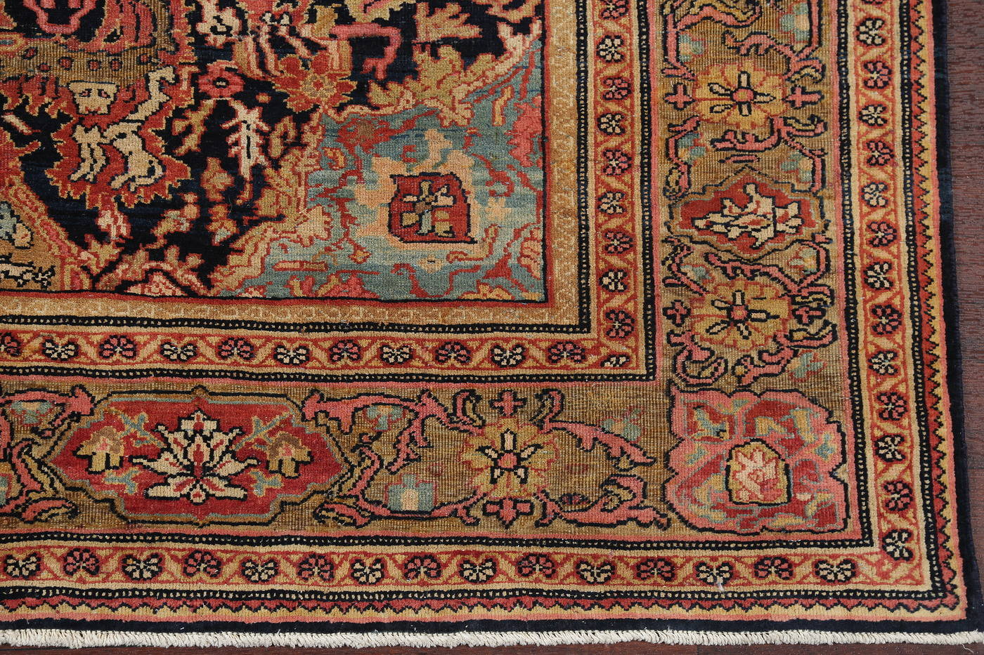 Antique Animal Pictorial Sarouk Farahan Persian Rug 5x7