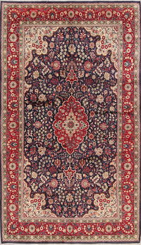 Floral Tabriz Persian Hand-Knotted 7x12 Wool Area Rug