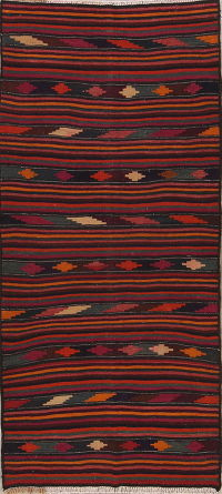 Kilim Shiraz Persian Runner Rug 4x9
