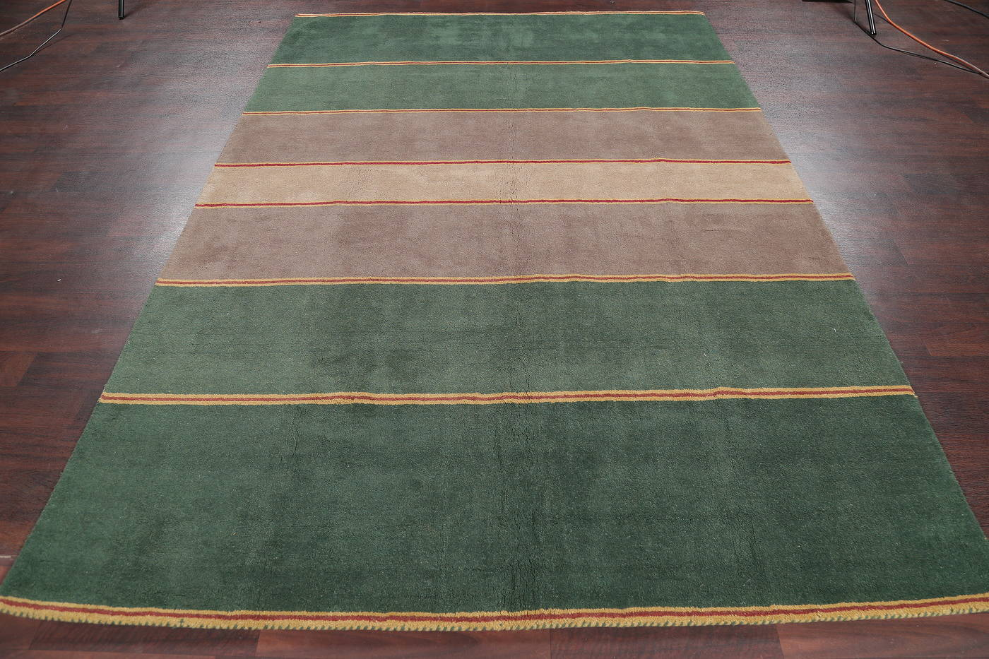 Stripe Tufted Modern Indian Oriental Area Rug 7x10