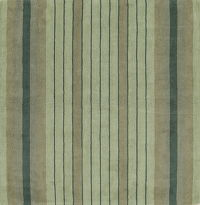 Striped Green Hand-Tufted Square 7x7 Wool Rug