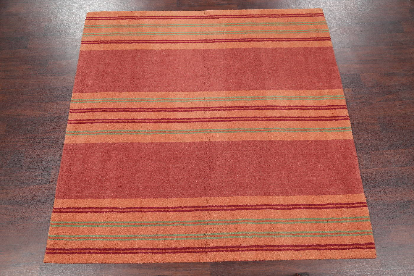 Contemporary Tufted Indian Oriental Square Rug 6x6
