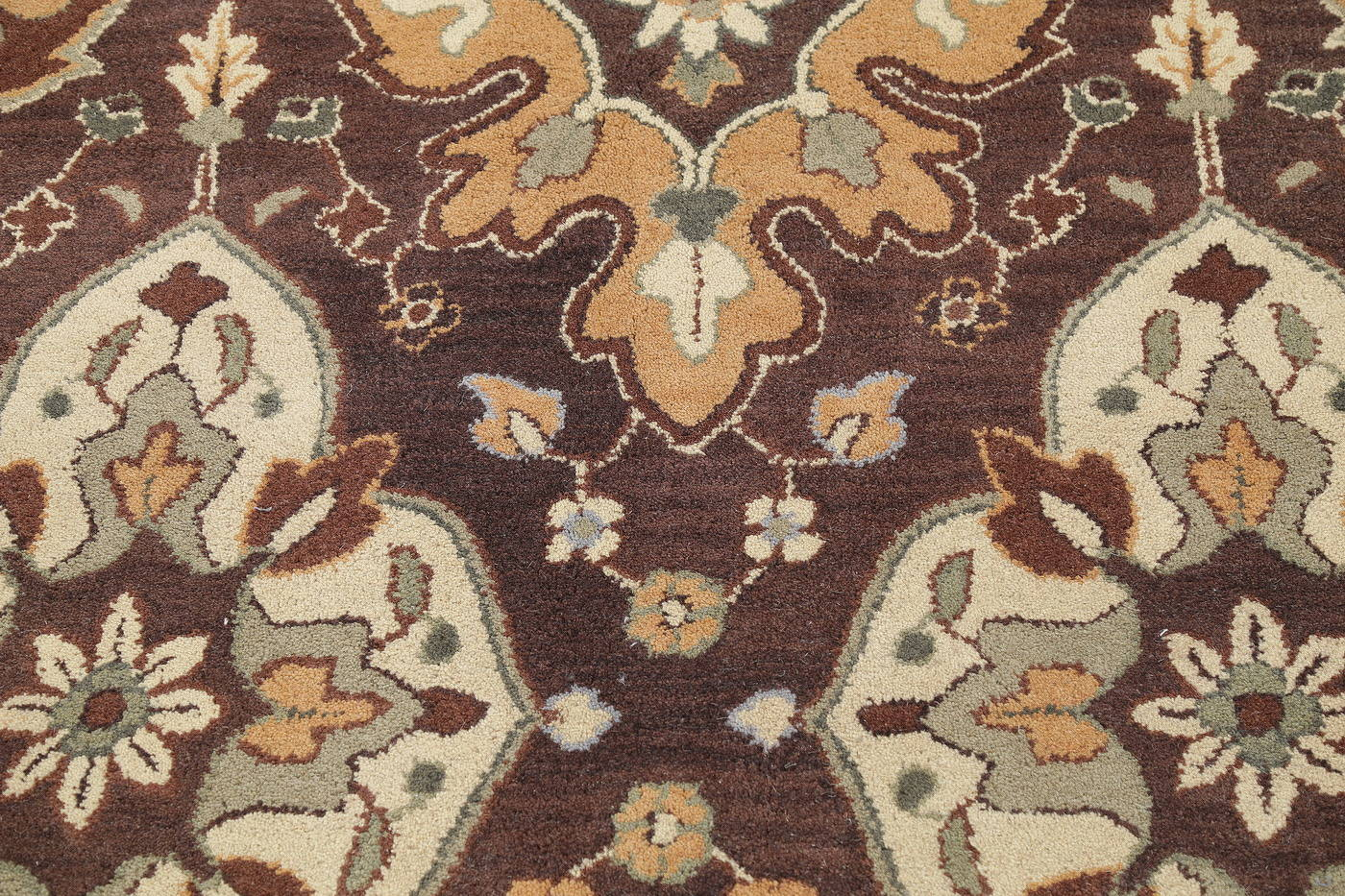Floral Hand-Tufted Indian Oriental Area Rug 7x10