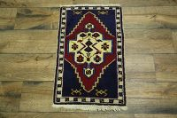 Geometric Tribal Anatolian Turkish Oriental Wool Rug 2x3