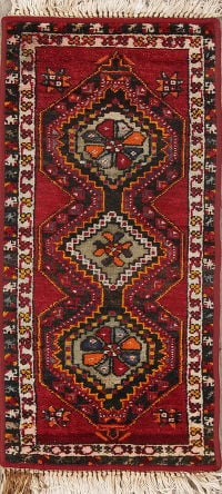 Tribal Geometric Anatolian Turkish 1x3 Wool Rug