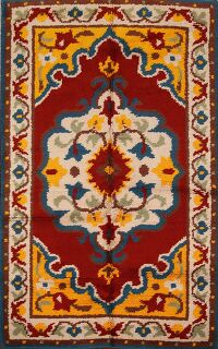 Traditional Rya Sweden Area Rug 4x6