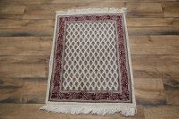 Paisley Botemir Boteh Indo Oriental Hand-Knotted Area Rug 2x3