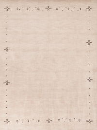 Modern Gabbeh Indian Oriental Hand-Knotted 8x10 Wool Area Rug