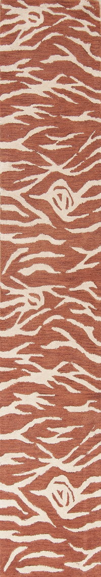 Leopard Animal Print Hand-Tufted Oriental Runner Rug 3x10