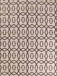 Geometric Moroccan Oriental Hand-Knotted Wool Ivory/Brown Area Rug 9x12