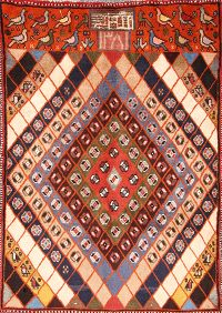 Geometric Gabbeh Shiraz Persian Area Rug 3x5