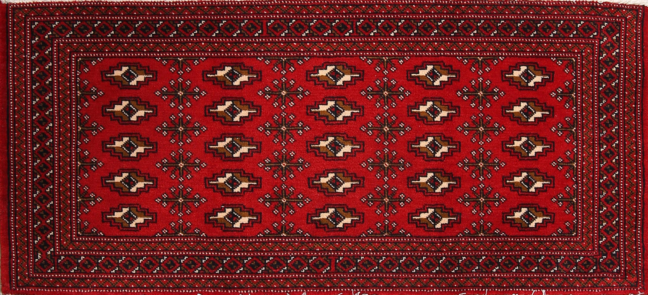 Geometric Turkoman Persian Area Rug 2x4