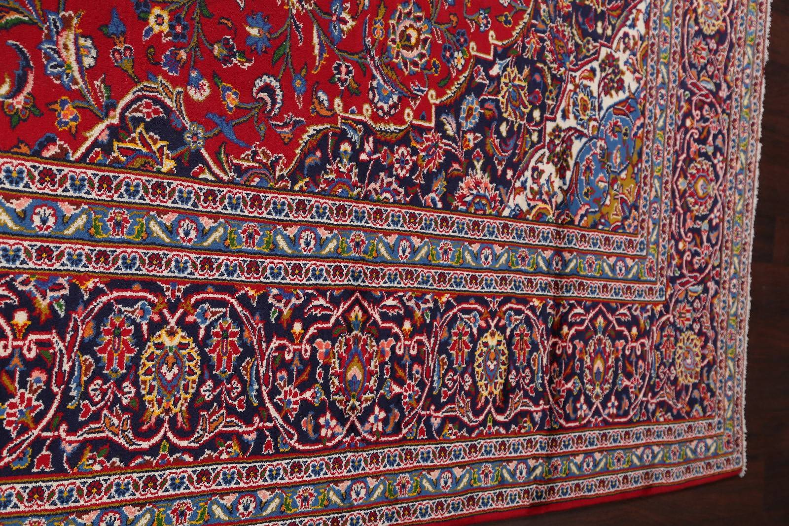 Traditional Floral Kashan Persian Area Rug 10x13