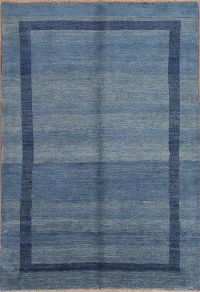 Solid Thick Gabbeh Shiraz Persian Modern Area Rug 6x8