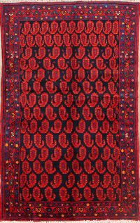All-Over Malayer Hamedan Persian Area Rug 4x6