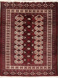 Geometric Turkoman Persian Rug 3x4
