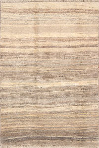 Contemporary Stripe Gabbeh Shiraz Persian Area Rug 4x6