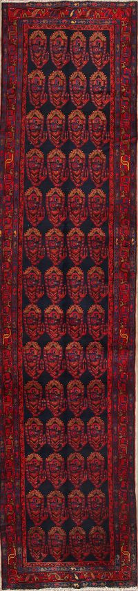 All Over Tribal Nahavand Hamedan Persian Runner Rug 4x16