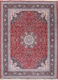 Red Traditional Floral Isfahan Persian Area Rug 10x13