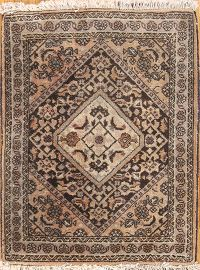 Geometric Bidjar Persian Wool Rug 1x2