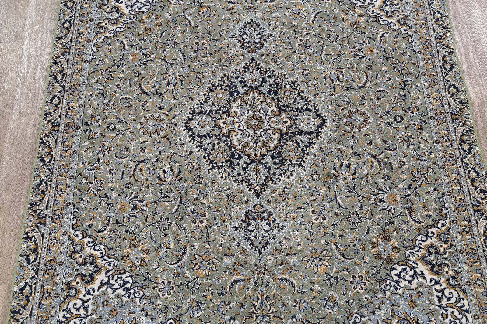 Soft Pile Floral Kashan Persian Style Area Rug 8x11