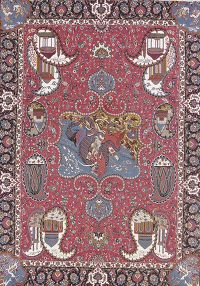 Soft Pile Animal Pictorial Kashmar Persian Style Area Rug 9x13