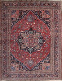 Antique Floral Heriz Persian Area Rug 10x14