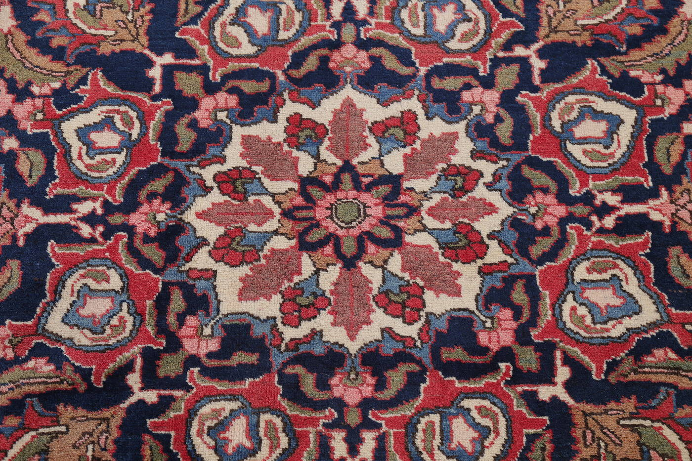 Antique Vegetable Dye Bakhtiari Persian Area Rug 12x14 image 7