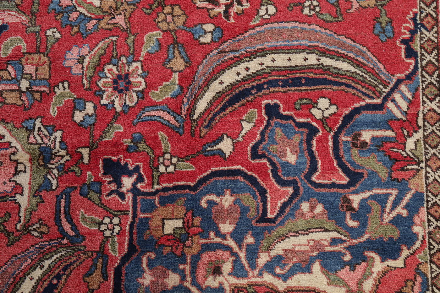 Antique Vegetable Dye Bakhtiari Persian Area Rug 12x14 image 12