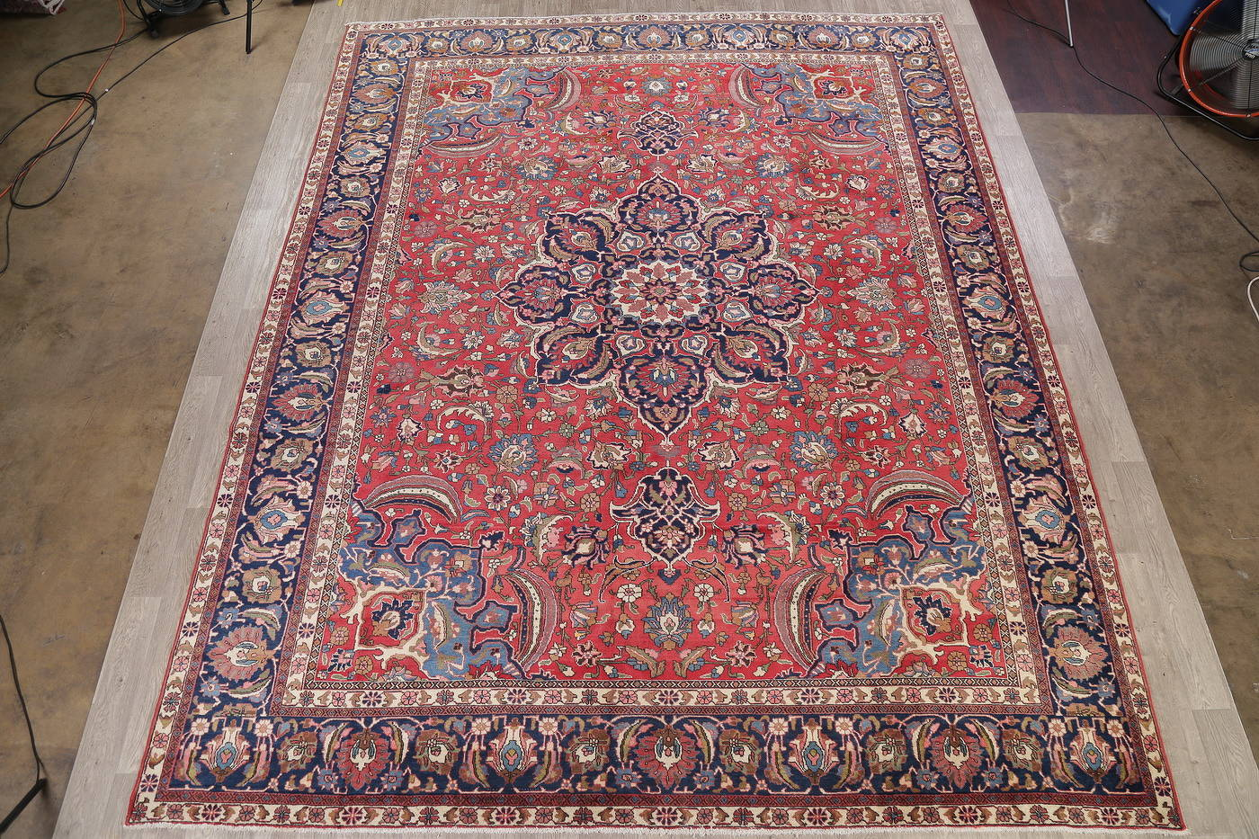 Antique Vegetable Dye Bakhtiari Persian Area Rug 12x14 image 2