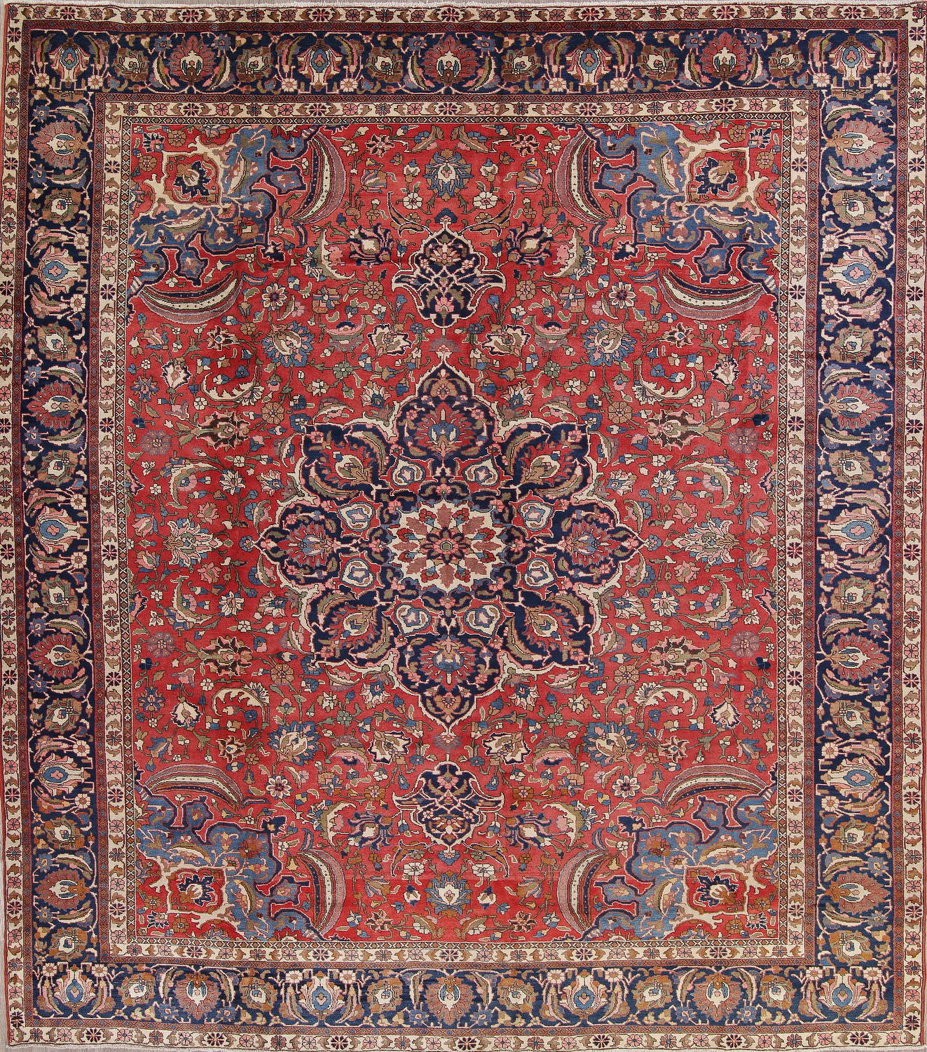 Antique Vegetable Dye Bakhtiari Persian Area Rug 12x14 image 1