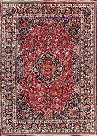 Vegetable Dye Floral Kashmar Persian Area Rug 8x11