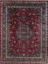 Antique Floral Kashmar Persian Area Rug 10x13