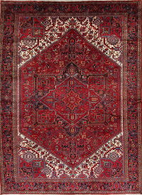 Red Geometric Heriz Persian Area Rug 10x13