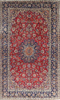 Red Floral Isfahan Persian Area Rug 8x12