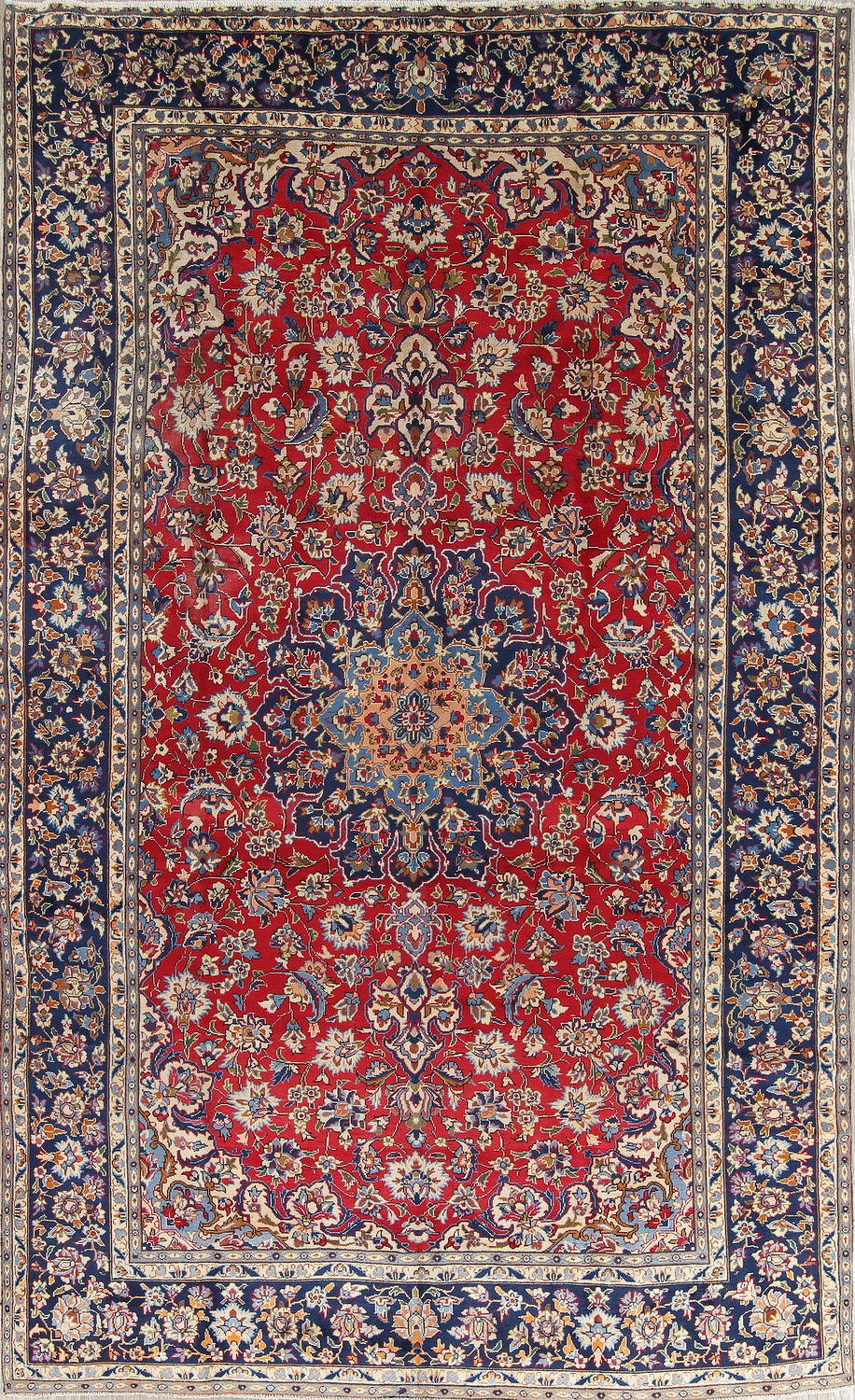 Red Fl Isfahan Persian Area Rug 8x12