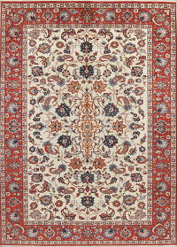 All Over Floral Isfahan Persian Area Rug 8x11