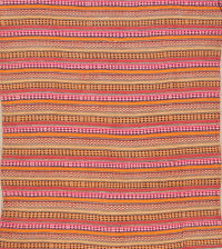 Stripe Kilim Shiraz Square Area Rug 6x6