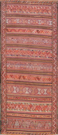 Geometric Kilim Shiraz Persian Runner Rug 5x10