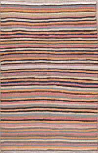 Stripe Kilim Shiraz Persian Area Rug 4x6